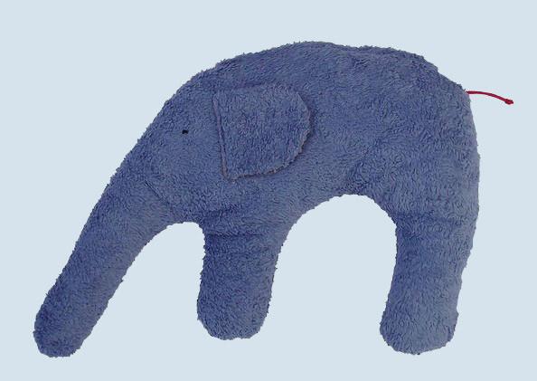 Pat & Patty Kuschelkissen Elefant - blau, Baumwolle, Bio