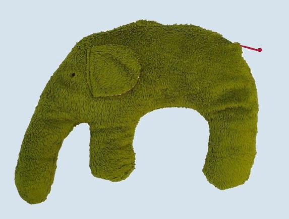 Pat & Patty Kuschelkissen Elefant - grün, Baumwolle, Bio