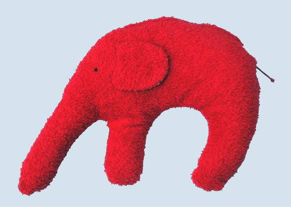 Pat & Patty Kuschelkissen Elefant - rot, Baumwolle, Bio