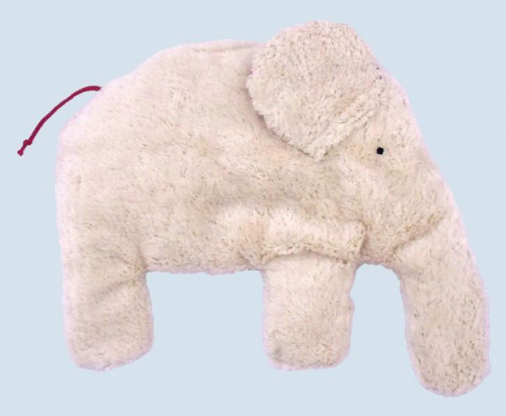 Pat & Patty Kirschkernkissen - Elefant, weiß