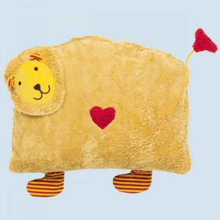 Pat & Patty Kuschelkissen - Löwe gelb - Baumwolle Bio Qualität