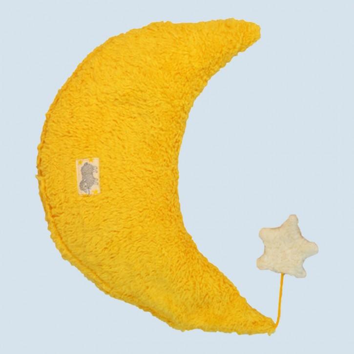 Pat & Patty Kuschelkissen Mond - Baumwolle, Bio - gelb