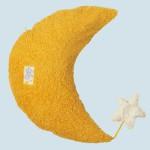Pat & Patty Kuschelkissen Mond - Baumwolle Bio Qualität, gelb