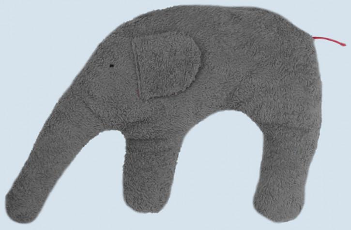 Pat & Patty Kuschelkissen Elefant - grau, Baumwolle, Bio