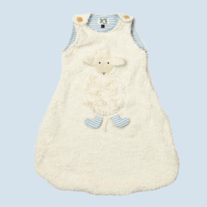 Pat & Patty Babyschlafsack Schaf - blau, Baumwolle, Bio Qualität