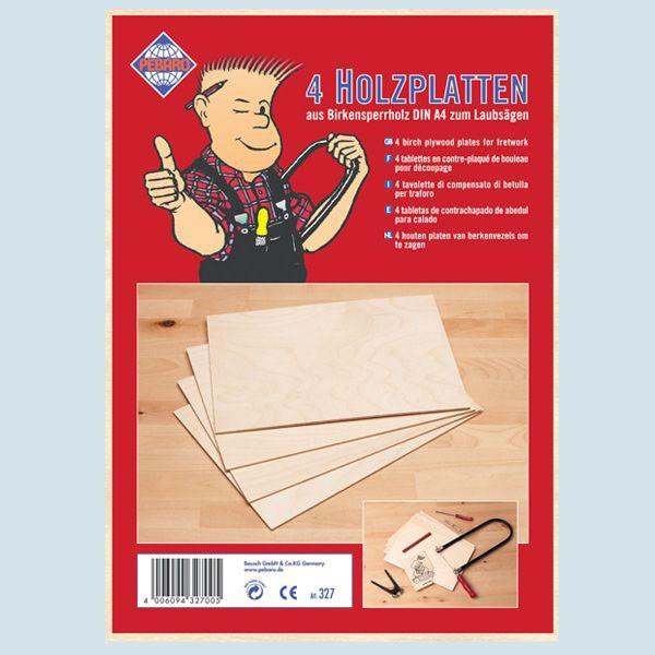 Pebaro - Holzplatten - Birke - DIN A4 - ohne Motivvorlagen
