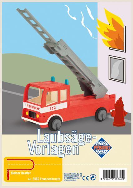 Pebaro - Laubsägevorlage - Feuerwehr, Holz