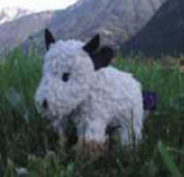 plue natur cuddly animal - cow Mali, beige - eco