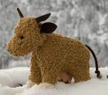 plue natur cuddly animal - cow Mali - eco