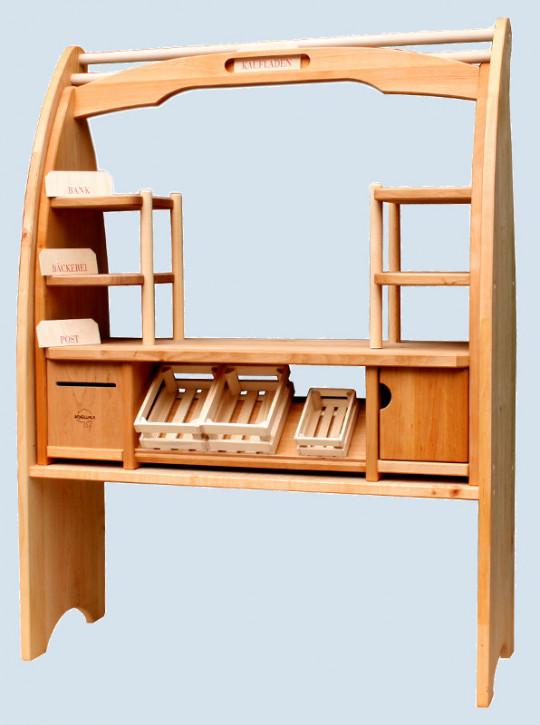 Schöllner - Tischkaufladen mit Spielständer - aus Erlenholz
