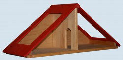 Schöllner - Dachteil für Puppenhaus / Puppenstube aus Holz
