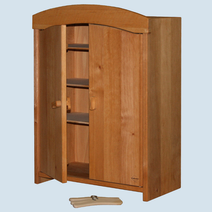 Schoellner - wooden furniture for dolls - wardrobe