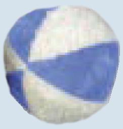 Senger Naturwelt - Ball blau, mit Rassel - Bio Baumwolle