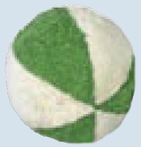 Senger Naturwelt - Ball grün, mit Rassel - Bio Baumwolle