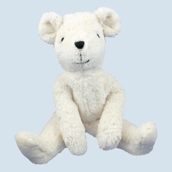 Senger - Schlenker Kuscheltier Eisbär, Teddy - weiß, Bio Baumwolle
