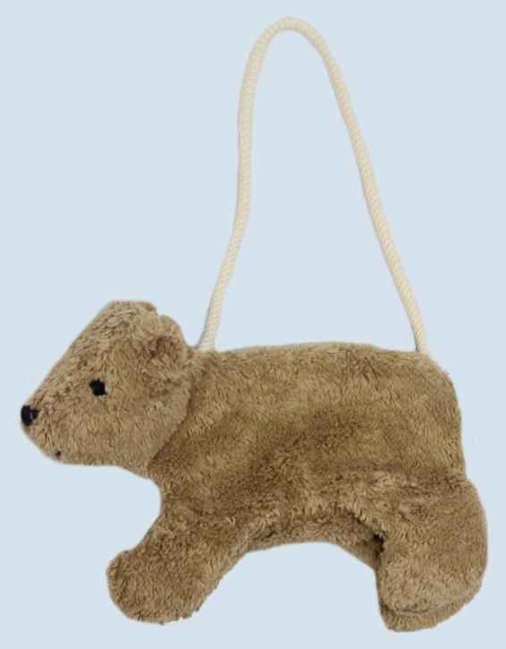 Senger Naturwelt - Tasche für Kinder, Bär - beige, Bio Baumwolle