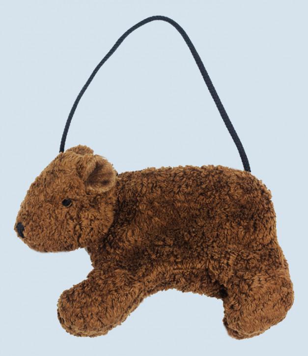Senger Naturwelt - Tasche für Kinder, Bär - braun, Bio Baumwolle