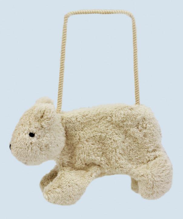 Senger Naturwelt - Tasche für Kinder, Bär - weiß, Bio Baumwolle