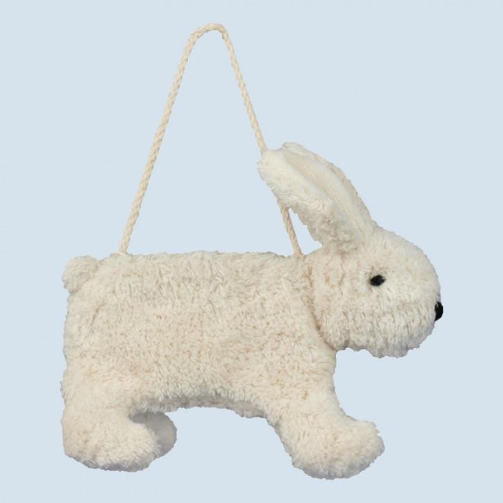 Senger Naturwelt - Tasche für Kinder, Hase - weiß, Bio Baumwolle