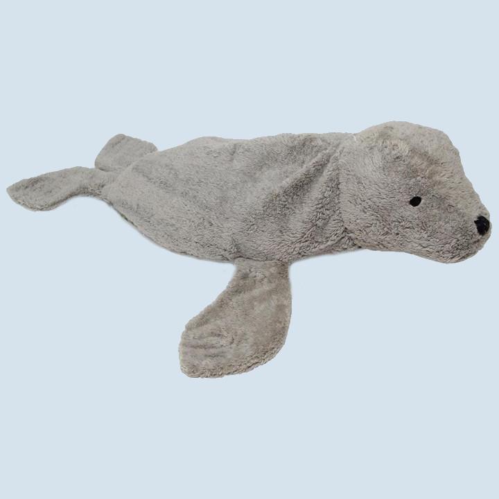 Senger cuddly animal - seal, grey, large, eco