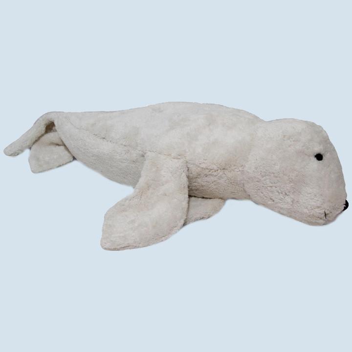 Senger cuddly animal - seal, white, large, eco