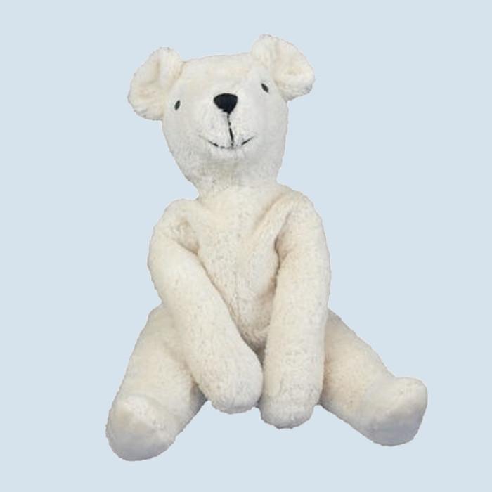 Senger - Schlenker Kuscheltier Teddy Bär - weiß, groß, Bio Baumwolle