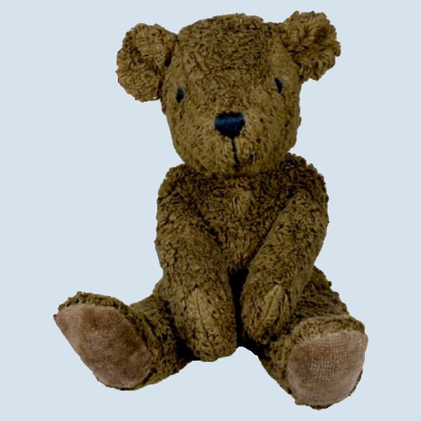 Senger - Schlenker Kuscheltier Bär, Teddy - braun, Bio Baumwolle