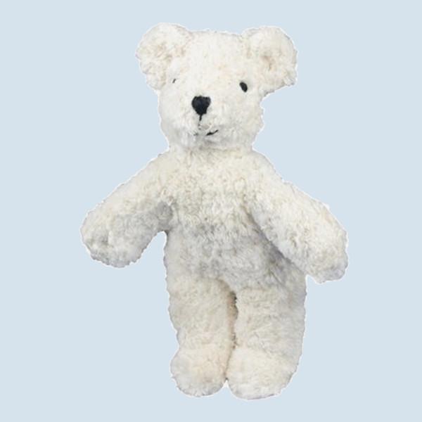 Senger Naturwelt - Kuscheltier Baby Bär, Teddy - weiß, Bio Baumwolle