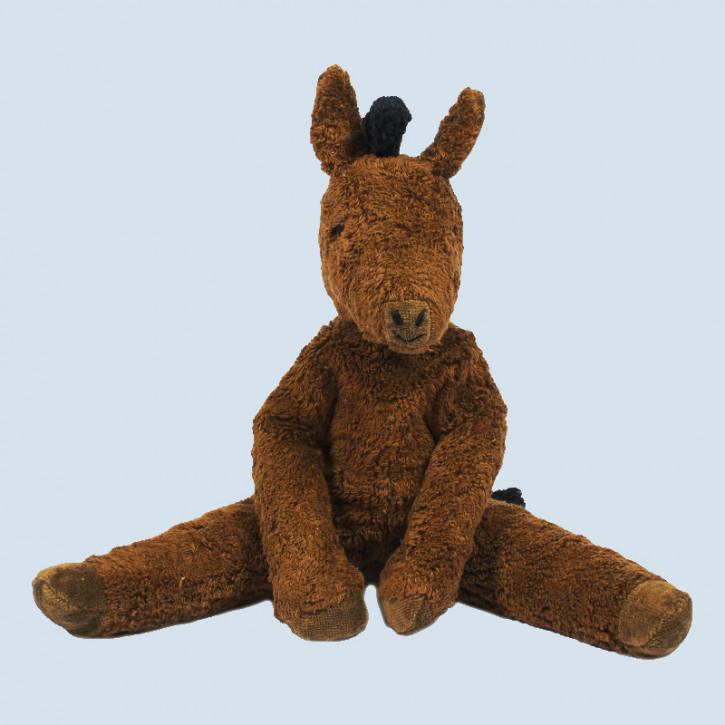 Senger - Schlenker Kuscheltier Pferd - braun, groß, Bio Baumwolle