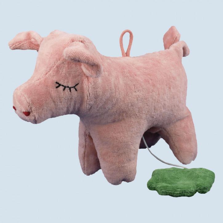 Senger - Spieluhr Schwein - Bio Baumwolle