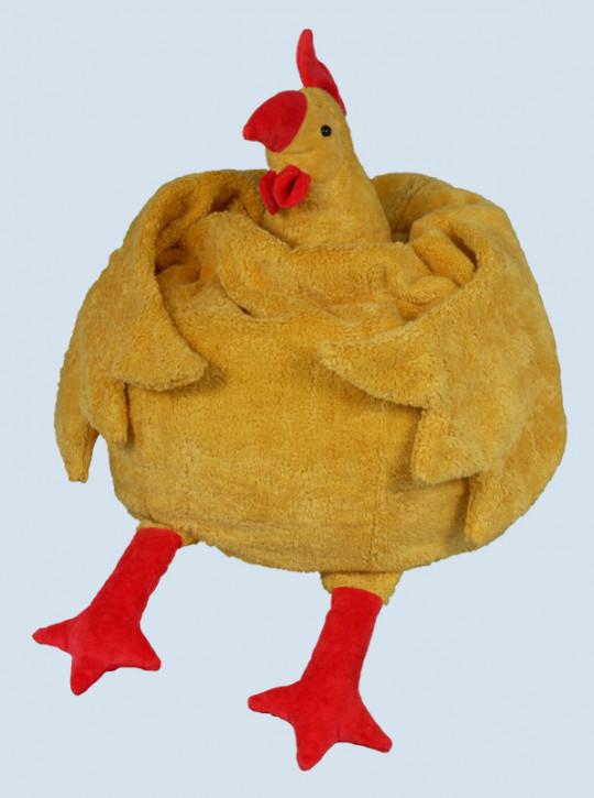 Senger Naturwelt - Sitzsack Huhn, gelb, Baumwolle Bio Qualität