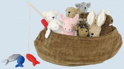 Senger Tierpuppe - Arche Noah - 10 Kuscheltiere, Bio Baumwolle