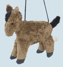 Senger Naturwelt - Tasche für Kinder, Pferd - braun, Bio Baumwolle