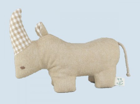 Senger animal doll - pure nature animal, rhino - organic cotton