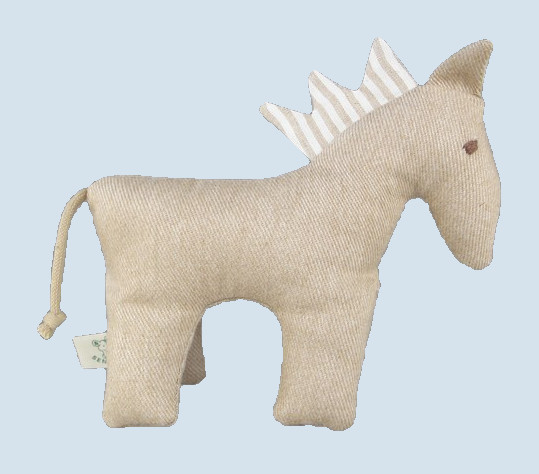 Senger animal doll - pure nature animal, horse - organic cotton