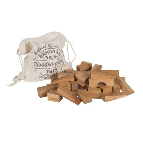Wooden Story - Holzklötze im Sack - Holz, natur