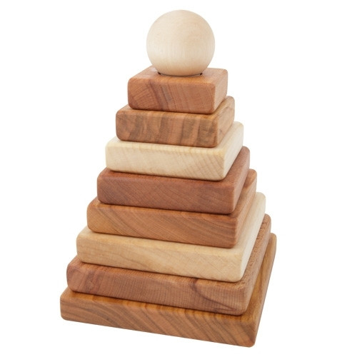 Wooden Story - Stapelpyramide - Holz, natur