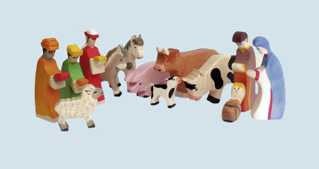 Wendelstein - wooden figures for Christmas Crib with basic accessories