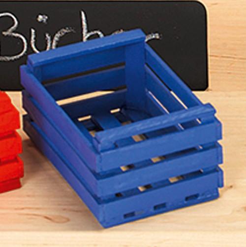Wendelstein - Obstkiste für Kaufladen, Spielhaus - blau, klein