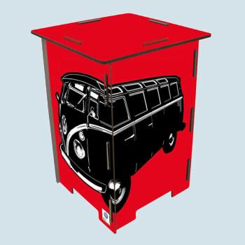 Werkhaus Photohocker - VW Bus T1 Bulli - rot, neu