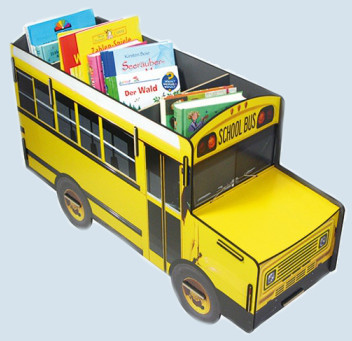 Werkhaus Bücherbus / Sitzbank / Bücherbox - amerikanischer Schulbus