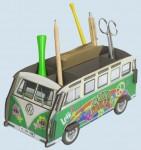 Werkhaus Stiftebox - VW Bus T1 Bulli Hippie, grün