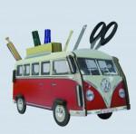 Werkhaus Stiftebox - VW Bus T1 Bulli, rot