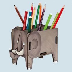 Werkhaus Stiftebox - Elefant - grau