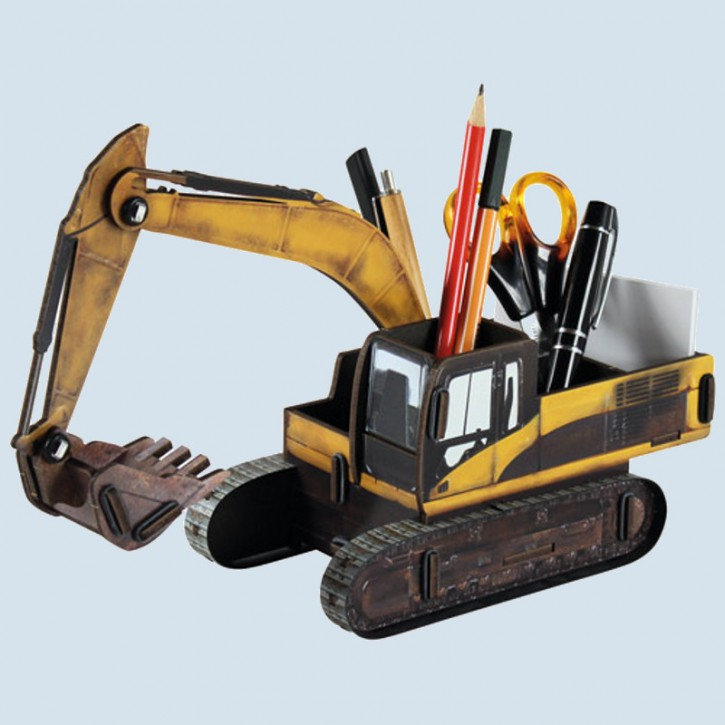 Werkhaus wooden pencil case, box - Excavator