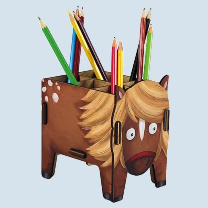 Werkhaus Stiftebox -  Pferd, Pony , aus Holz