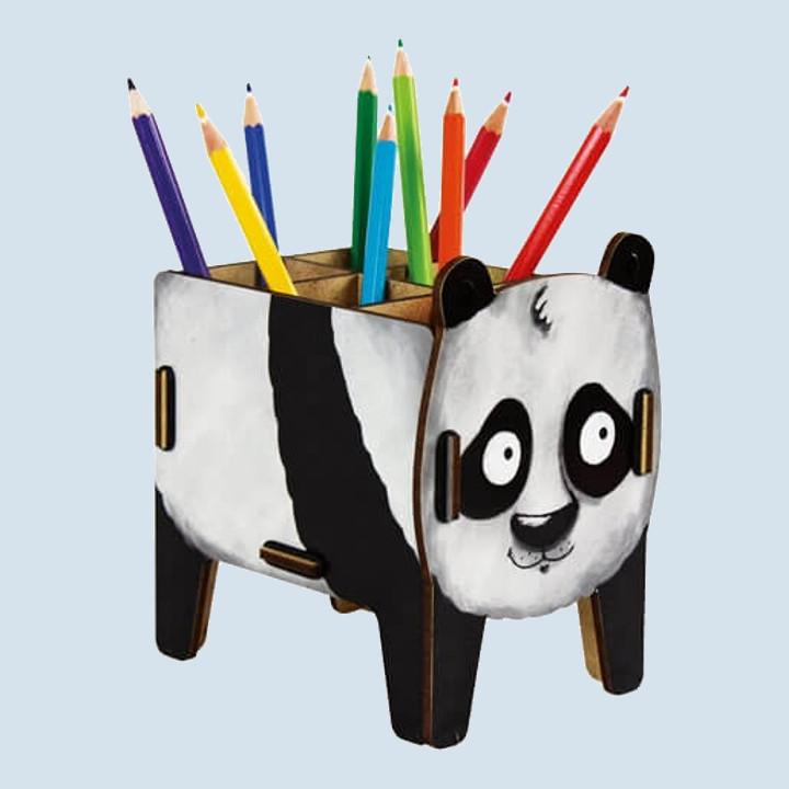 Werkhaus Stiftebox -  Panda, aus Holz
