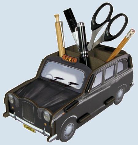 Werkhaus Stiftebox - London Taxi, schwarz