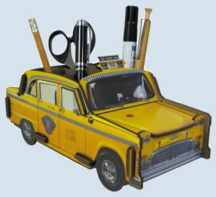 Werkhaus Stiftebox - New York Taxi, gelb