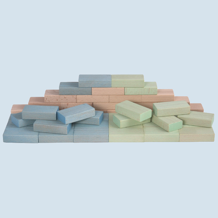 Beck - Fröbel Bausteine Set, blau, grün